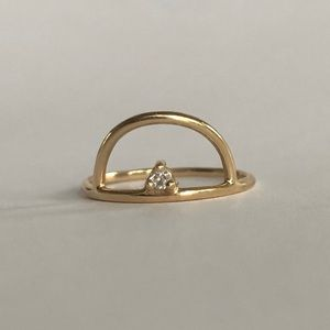 Jewelry - Artisan Crafted Minimalist 14k Gold & Diamond Ring